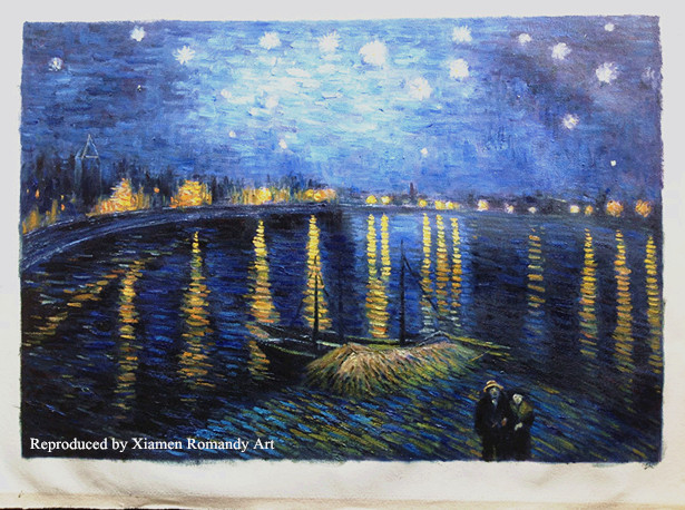 The Starry Night Reproduced by Romandy Art