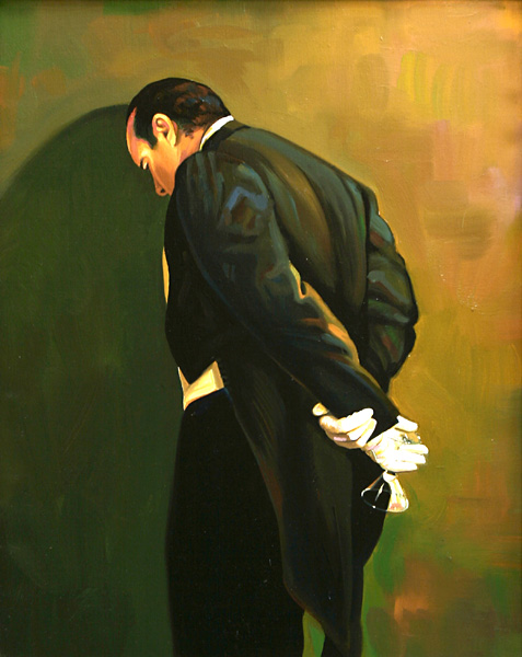 The Butler's in Love,1998 Oil Painting